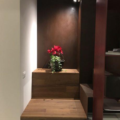 ingresso scala legno ferro